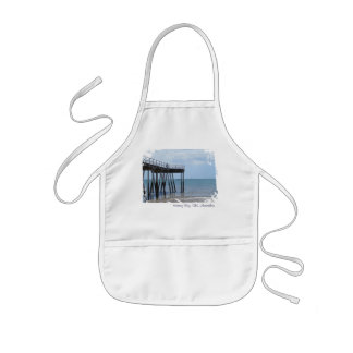 A Pier, A Sunny Day and a Boy on a Bike. Bliss. Kids' Apron