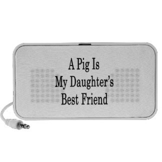 A Pig Is My Daughter's Best Friend Laptop Speakers