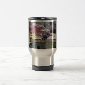 A Pigeon Setting On A Pylon Coffee Mug
