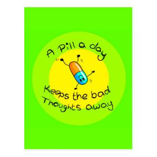 A pill a day postcard