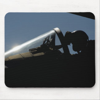 A pilot prepares for take-off mouse pad