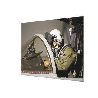 A pilot prepares his F-15A Eagle Canvas Print