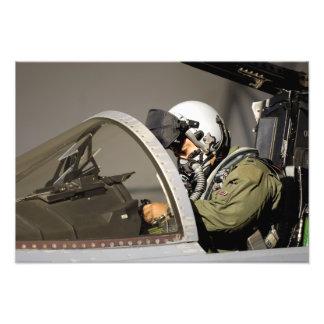 A pilot prepares his F-15A Eagle Photo Print