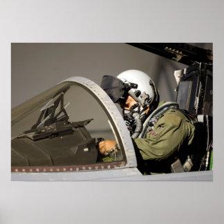 A pilot prepares his F-15A Eagle Poster