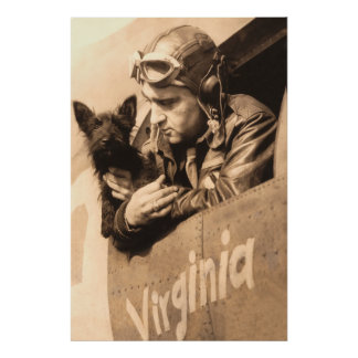 A pilots best friend - Terrier and fighter pilot Posters