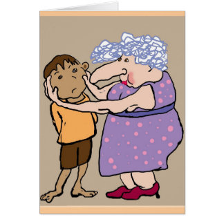 A pinch on the cheek from Aunty Dot Card