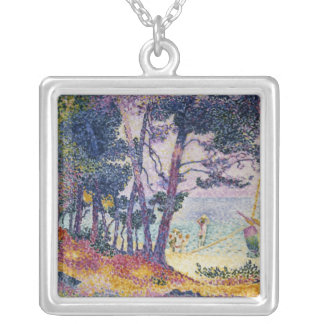 A Pine Grove, 1906 Silver Plated Necklace