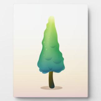 A pine tree plaque