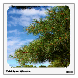 A Pine Tree Reaching Out To Blue Skies Wall Sticker