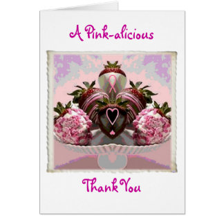 A Pink-alicious Thank You Card