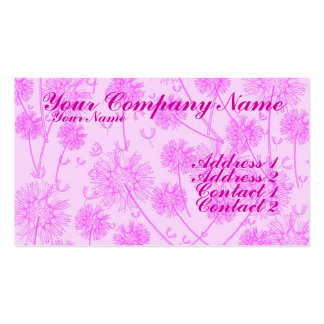 A Pink Dandelion Business Card Template