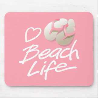 A Pink Flip Flops Mouse Pad for Beach Life Lovers