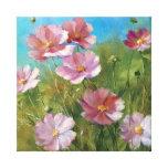 A Pink Floral Garden Canvas Print