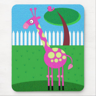 A Pink Giraffe Lives in My Backyard Mouse Pad