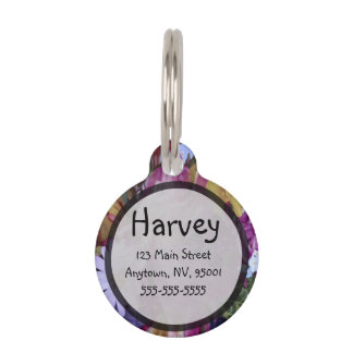 A Pink Guardian Angel with Child Pet ID Tag