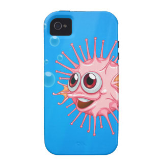 A pink puffer fish in the ocean iPhone 4/4S covers