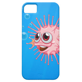 A pink puffer fish in the ocean iPhone 5 case