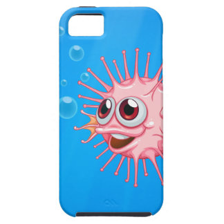 A pink puffer fish in the ocean iPhone 5 cover
