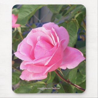 A Pink Rose Mouse Pad