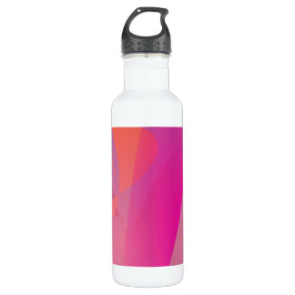 A Pink Tree Trunk against the Blue Sky Water Bottle