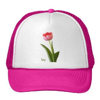 A Pink Tulip Trucker Hat