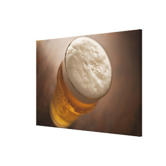 A pint of lager, back lir shallow focus rustic canvas print