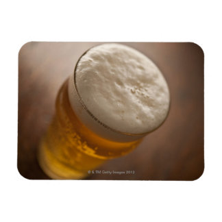 A pint of lager, back lir shallow focus rustic rectangular photo magnet