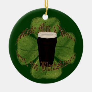 A Pint of the Black Stuff Christmas Ornaments