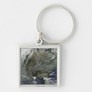 A pinwheel-like pattern of high pressure clouds keychain
