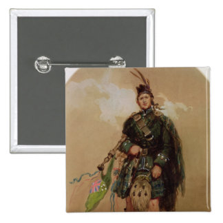 A Piper of the 79th Highlanders at Chobham Pinback Button