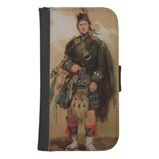 A Piper of the 79th Highlanders at Chobham Phone Wallet Cases