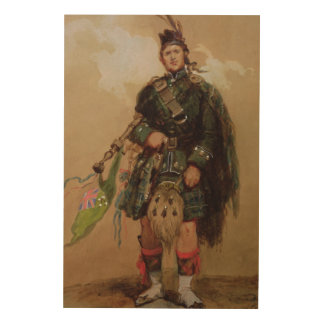 A Piper of the 79th Highlanders at Chobham Wood Wall Art