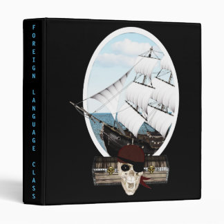 A Pirate Ship Vinyl Binder