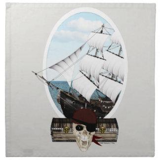 A Pirate Ship Cloth Napkin