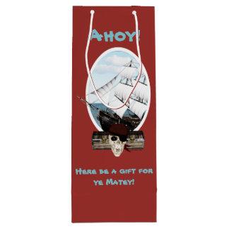 A Pirate Ship Wine Gift Bag