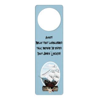 A Pirate Ship Door Knob Hangers