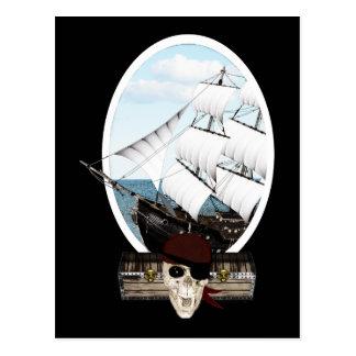 A Pirate Ship Postcard