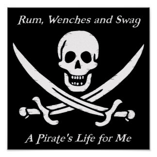 A Pirates Life black poster - small