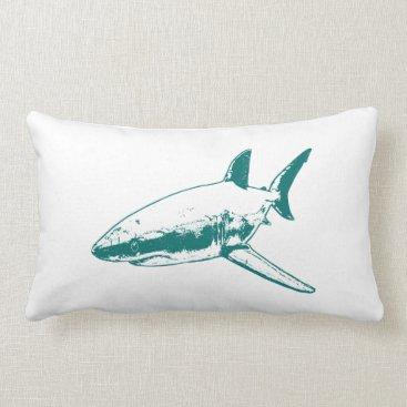 Beach Themed A Pirates Life doublesidedsharkpillow_4 Lumbar Pillow