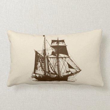 Beach Themed A Pirates Life doublesidedshippillow_3 Lumbar Pillow