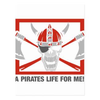 A Pirates Life For Me Postcard