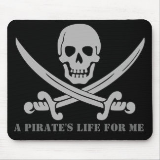 """A Pirate's Life For Me"" Skull & Swords Mousepad"