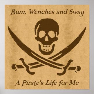 A Pirates Life parchment poster