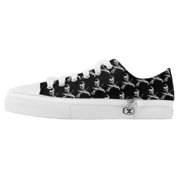 Beach Themed A Pirates Life skullshoes_2 Low-Top Sneakers