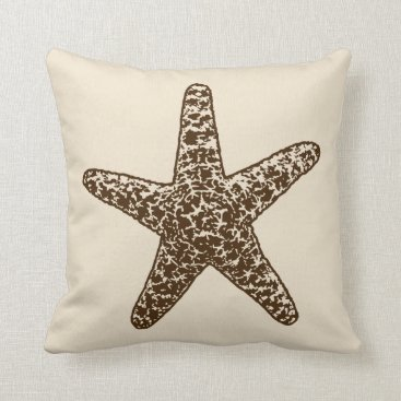 Beach Themed A Pirates Life starfishdoublesidedpillow_3 Throw Pillow