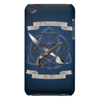 A Pirate's Life Sword & Flintlock Blue Ipod Case Barely There iPod Case