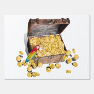 A Pirates Treasure Chest (Add Background Color) Sign