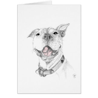 A Pit Bull Smile Card