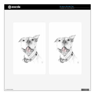 A Pit Bull Smile Decal For Kindle Fire