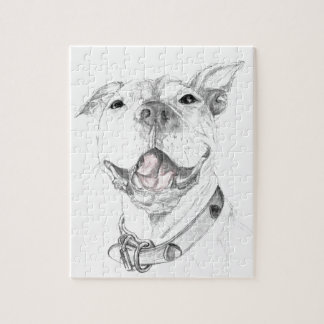 A Pit Bull Smile Jigsaw Puzzle